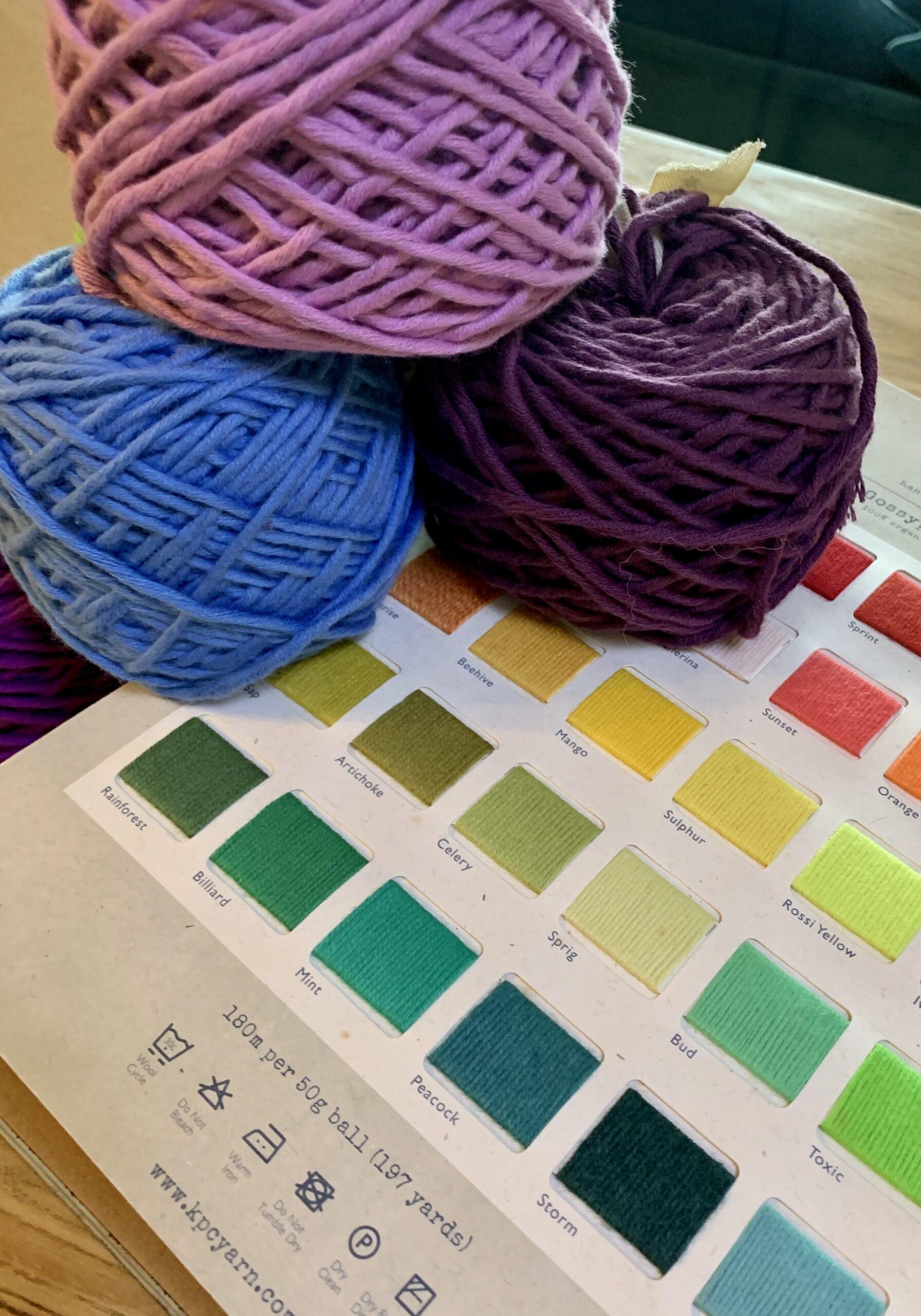 KPC Yarn Gossyp Chunky 100/% Organic Cotton Knitting Yarn 100g 90yrds BLACK